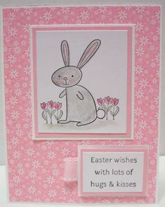 Pink Bunny Hugs by jacqueline - Cards and Paper Crafts at Splitcoaststampers