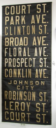 Vintage transit scroll--want this for my house--Southern Tier represent! Hee her!