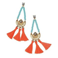 mark. By Avon Sunny Days Earrings  Chandelier earrings with light blue beads forming a triangle and connecting to a hammered brass casting that has 3 separate bright orange tassels connected to it at the bottom. SHOP NOW: https://www.avon.com/product/mark-by-avon-sunny-days-earrings-58499?rep=slayed  #avon #mark #fashion #jewelry #earrings #chic #fashionblogger #everydayessentials #new #hot #photooftheday #instafashion #accessories #loveit #gift #girl #onlineshopping #woman