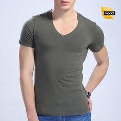 T shirts Work Slim Fit Undershirts Casual Underwear V-Neck Undershirt for Mens #VNeckUndershirts #Athletic