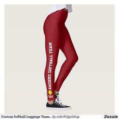 ed88486b0aebd Custom Softball Leggings Team Player Name Monogram Tartan Leggings, Custom  Basketball, Personalized Basketball,
