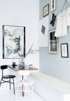 Genius Small Dining Room Layout Ideas - Page 39 of 74 Kitchen Interior, Home Interior Design, Room Interior, Room Inspiration, Interior Inspiration, Deco Studio, Minimalist Dining Room, Gravity Home, Kitchen Nook