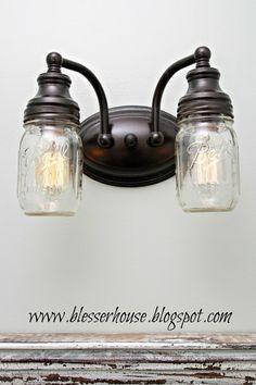 Créer une Lampe Design avec des bocaux en verre! 20 idées pour vous inspirer... Lampe Design avec des bocaux en verre.Voici pour vous aujourd'hui une petite sélection de 20 idées originales pour réaliser une lampe en utilisant des bocaux en verre...
