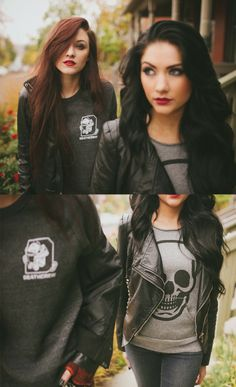 I love their makeup...and their Ruckus Apparel. Need to buy a black leather jacket...remember for later!