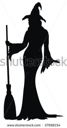 witch silhouette by oorka, via ShutterStock