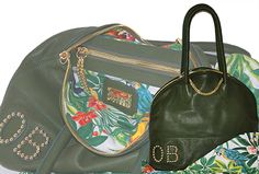 Airport s Classic Shoulder bag Dark green natural leather Made in Italy