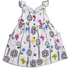 Toddler Little Girls Clothes BUTTERFLY Spring Dress LE TOP 2T-6X (Apparel)