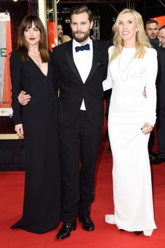 Jamie Is a Gentleman With Dakota — and His Wife! — on the Red Carpet: The release of Fifty Shades of Grey is finally upon us, and its stars are busy traveling the globe to promote their buzzed-about movie.