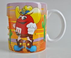 M&M's Sheriff Mug Cup Coffee Western Spinning Star Galerie Rare Wild West #Galerie