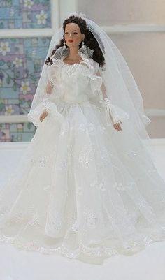 Wedding Suits For Bride, Wedding Dress Suit, Barbie Wedding Dress, Wedding Doll, Best Wedding Dresses, Perfect Wedding Dress, Wedding Gowns, Bridal Gowns, Pretty White Dresses