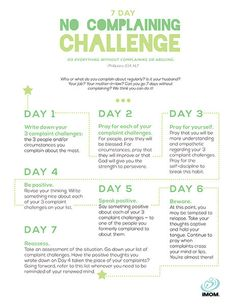 7 Day No Complaining Challenge Featured