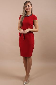0c936de87f Meredith Red Ruffle Detail Dress. Virgo Boutique Fashion