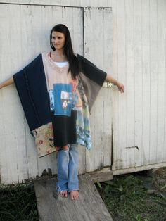 romantic upcycled DressPatchWork Funky Eco / Shrug / by CreoleSha, $92.99