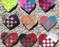 3 Swedish woven heart corner bookmarks, 3 for 5.00