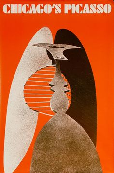 DP Vintage Posters - Chicago's Picasso, Original American Travel Poster