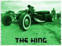 the KING rat rod, goin' green.