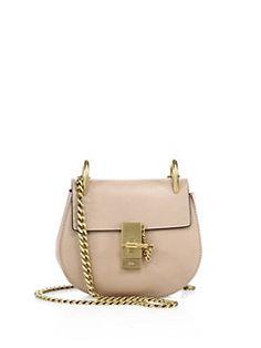 6ec096e7ef30 Chloé - Drew Mini Leather Saddle Crossbody Bag Chloe Drew Mini