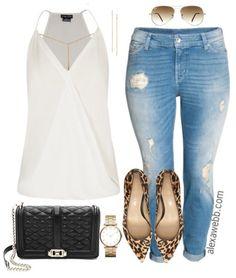 Plus Size Boyfriend Jeans - Plus Size Casual Outfit Idea - Plus Size Fashion for Women - alexawebb.com