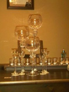 DIY Wedding Centerpieces Dollar tree candles holders and glasses