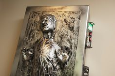 This is the ultimate Star Wars theme room. Some really awesome decorations on in it including a full size Han Solo in Carbonite, a Lightsaber display case, and a giant Star Wars neon sign. This is...