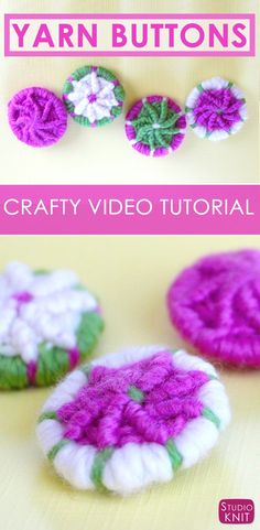 How to Craft YARN DORSET BUTTONS with instructional video tutorial by Studio Knit #buttons via @StudioKnit