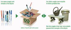 Les Brigades TerraCycle® sont des programmes nationaux de collecte d'un type de déchets.   TerraCycle travaille en partenariat avec des marques nationales et internationales pour organiser la collecte et le recyclage de déchets qui n'étaient pas recyclés au préalable. Certains de ces programmes vous permettent de collecter des fonds en échange de vos déchets (tous les fonds collectés sont versés aux écoles et aux organismes caritatifs choisis par les équipes de récupération).