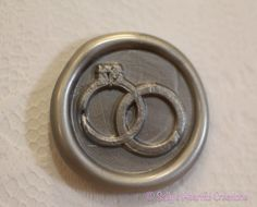 Wedding Rings Peel And Stick Faux Wax Seals by smithrj18 on Etsy, $50.00