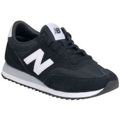New Balance Women's 620 Capsule Core Sneaker ($75) ❤ liked on Polyvore featuring shoes, sneakers, black, lacing sneakers, black lace up shoes, lace up sneakers, black trainers and new balance
