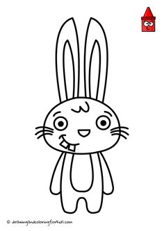 Drawing Bunny Rabbit | How To Draw Bunny Step by Step | Bunny Coloring Pages