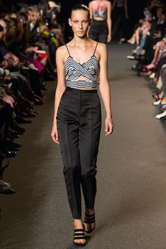 Alexander Wang Spring 2015 Ready-to-Wear - Collection - Gallery - Look 1 - Style.com crop top