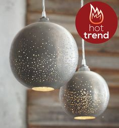 Pendant lamps from roostco.com