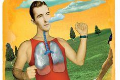 Runner's World: Lung Power--breath training to improve endurance. Running Workouts, Running Tips, Running Form, Running Humor, Breathing Techniques, Running Techniques, Running Inspiration, Runners World, Half Marathon Training