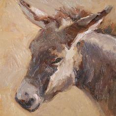 suzannepaints Donkey Pics, Hee Haw, Vintage Planters, Christmas Paintings, Donkeys, Vintage Magazines, Western Art, Vincent Van Gogh, Farm Animals