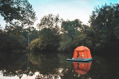 This incredible floating tent is the stuff of camping dreams // @inhabitat