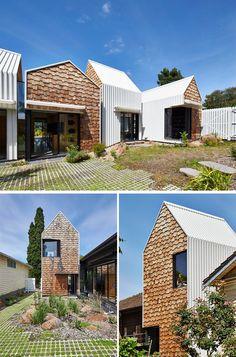 Haus mit versetzten Baukörpern in Australien