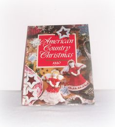 American Country Christmas Book Oxmoor House 1990 Vintage Crafts Recipes Holiday Home Decor DIY Projects Crafts Book by ICreateAndCollect on Etsy