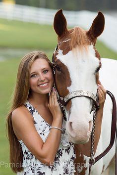 Pamela Greer Photography Senior Girl and Horse