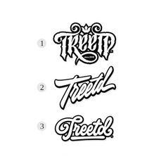 Treetd, Which one is your favorite ? 1, 2 or 3 ? Follow us for daily logo design inspiration @logotorque on instagram Script Logo, Which One Are You, Logo Design Inspiration, Sketch, Gallery, Instagram, Sketch Drawing, Roof Rack, Sketches