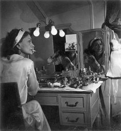 Chanel at her dressing table, in her Ritz apartment, 1938: image