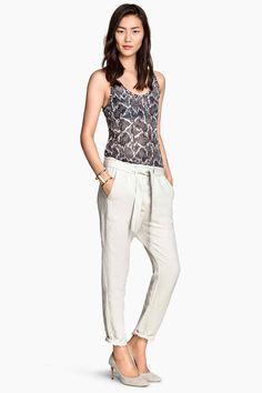 Nohavice zľanovej zmesi | H&M