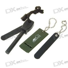 Survival Fire Sparkle + Blade Cutter + Whistle