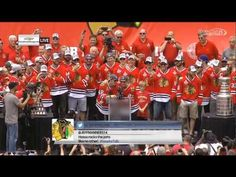 Kris Versteeg and Joakim Nordstrom sing and dance for Hawks fans (Video)   Puck Daddy - Yahoo Sports