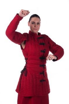 Female gambeson, in scarlet.