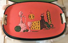Vintage 1960's Serving Trays | Set of Four by LittleBohoCottage on Etsy