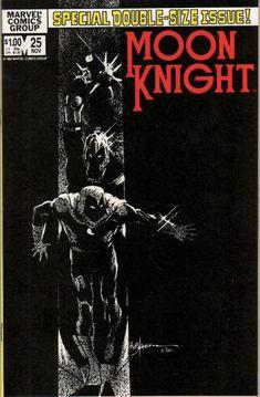 Moon Knight # 25 by Bill Sienkiewicz Marvel Comic Books, Comic Book Characters, Marvel Characters, Comic Books Art, Book Art, Marvel Moon Knight, Marvel Store, Heroes United, Knight Art