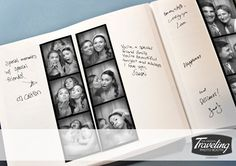 Turn your photo booth pictures into a wedding book! (The Traveling Photo Booth) Trendy Wedding, Unique Weddings, Dream Wedding, Wedding Photo Booth, Wedding Photos, Wedding Ideas, Wedding Fun, Wedding Stuff, Wedding Hacks