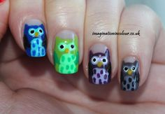 Easy Owl Nail Art - Imagination In Colour