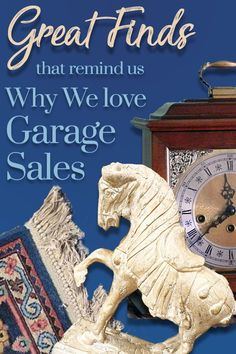 Enjoy  this inspiring collection of our favorite Garage Sale Finds with pics and prices, shared by people who love to Garage Sale. #garagesales #yardsales #garagesalefinds