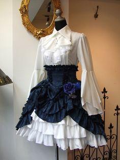 フェアリアミニSK[1429] Pretty Outfits, Pretty Dresses, Beautiful Outfits, Cute Outfits, Steampunk Fashion, Victorian Fashion, Gothic Fashion, Vintage Dresses, Vintage Outfits