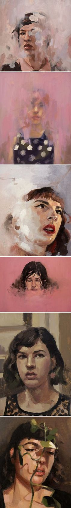 Beautiful and haunting. This is the work of American painter Catherine Graffam. She paints other people too, but her self portraits take my breath away… So. Much. Emotion. Catherine is a transgender w